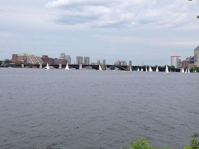 Saling on the Charles River Boston