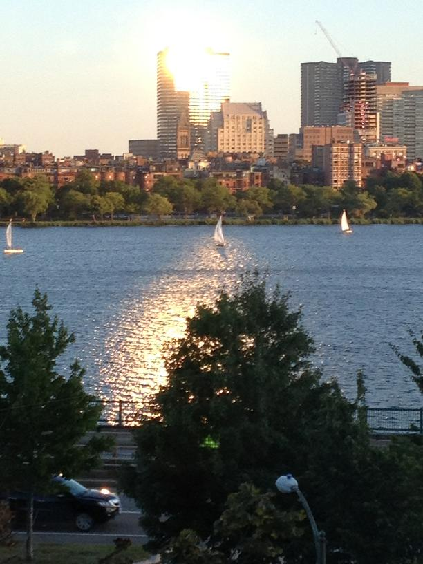 Sail Boats on Charles River Boston