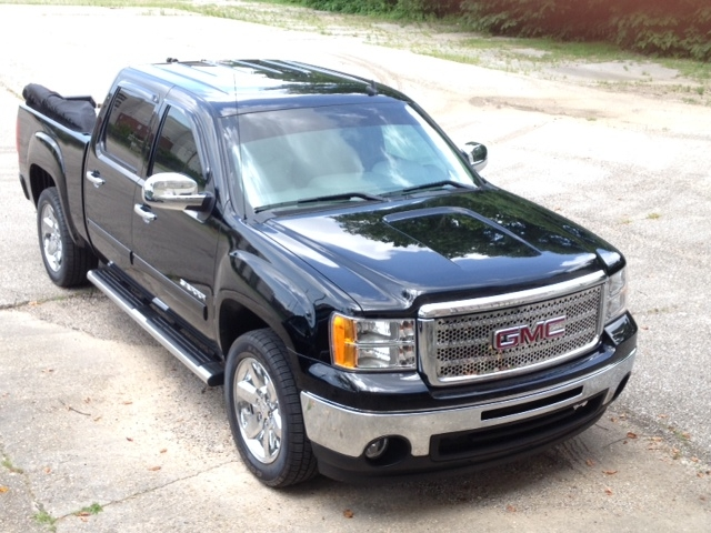 GMC Black Pick Up Truck