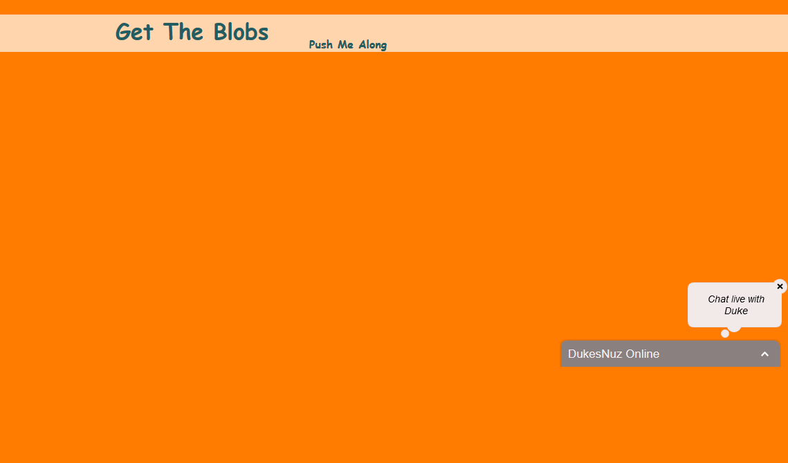 Get The Blob Game Using JavaScript and api