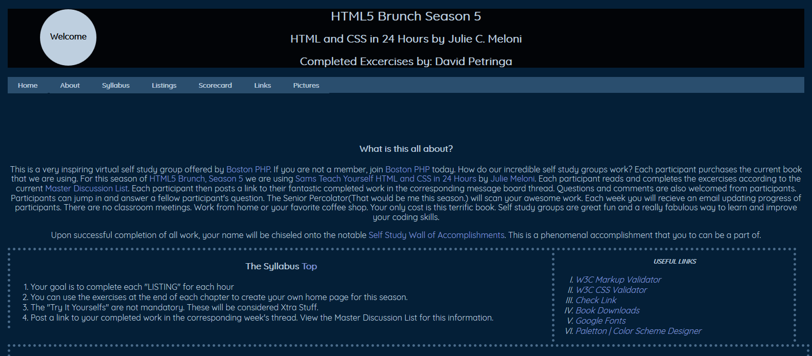 Home Page For HTML5 Brunch Season 5